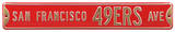 San Francisco 49ers Ave Steel Sign Wall Sign