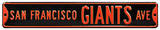 San Francisco Giants Ave Steel Sign Wall Sign