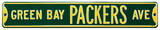 Green Bay Packers Ave Green Steel Sign Wall Sign