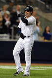 New York, NY - October 1: New York Yankees v Boston Red Sox - Nick Swisher Photographic Print by  Elsa