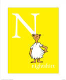 N is for Nightshirt (yellow) Prints by Theodor (Dr. Seuss) Geisel