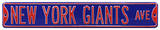 New York Giants Ave Blue Steel Sign Wall Sign