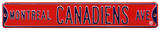 Montreal Canadiens Ave Steel Sign Wall Sign
