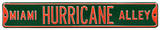 Miami Hurricane Alley Steel Sign Wall Sign