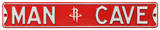 Man Cave Houston Rockets Steel Sign Wall Sign