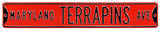Maryland Terrapins Ave Steel Sign Wall Sign