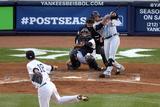 New York, NY - October 14: Detroit Tigers v New York Yankees - Jhonny Peralta and Hiroki Kuroda Photographic Print by Bruce Bennett