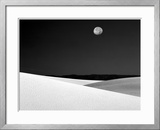 Nighttime with Full Moon Over the Desert, White Sands National Monument, New Mexico, USA Framed Photographic Print by Jim Zuckerman