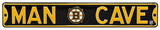 Man Cave Boston Bruins Steel Sign Wall Sign