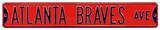 Atlanta Braves Ave Steel Sign Wall Sign