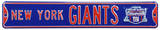 New York Giants SB-XLVI Steel Sign Wall Sign