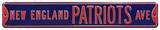 New England Patriots Ave Steel Sign Wall Sign