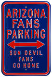 Arizona Sun Devils Go Home Parking Steel Sign Wall Sign