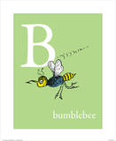 B is for Bumblebee (green) Prints by Theodor (Dr. Seuss) Geisel