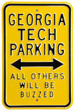 Georgia Tech Buzzed Parking Steel Sign Wall Sign
