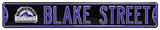 Blake Street with Rockies Logo Steel Sign Wall Sign