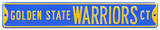 Golden State Warriors Ct Steel Sign Wall Sign