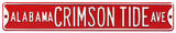 Alabama Crimson Tide Ave Steel Sign Wall Sign