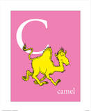 C is for Camel (pink) Poster par Theodor (Dr. Seuss) Geisel