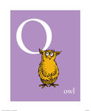 O is for Owl (purple) Posters by Theodor (Dr. Seuss) Geisel