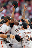 Cincinnati, OH - October 11: San Francisco Giants v Cincinnati Reds - Pablo Sandoval Photographic Print by Andy Lyons