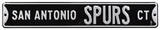San Antonio Spurs Ct Steel Sign Wall Sign