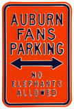 Auburn Fans No Elephants Parking Steel Sign Wall Sign