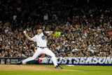 Detroit, MI - October 16: New York Yankees v Detroit Tigers - Justin Verlander Photographic Print by Gregory Shamus