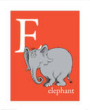 E is for Elephant (red) Posters by Theodor (Dr. Seuss) Geisel