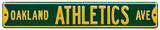 Oakland Athletics Ave Steel Sign Wall Sign