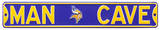 Man Cave Minnesota Vikings Steel Sign Wall Sign
