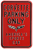 Corvette Parking Only Steel Sign Wall Sign