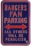 Rangers Penalized Parking Steel Sign Wall Sign