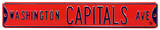 Washington Capitals Ave Steel Sign Wall Sign