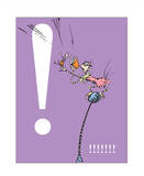 Exclamation Point (purple) Prints by Theodor (Dr. Seuss) Geisel