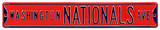 Washington Nationals Ave Red Steel Sign Wall Sign