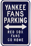 Yankees Red Sox Go Home Parking Steel Sign Wall Sign