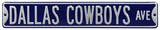 Dallas Cowboys Ave Navy Steel Sign Wall Sign
