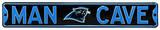 Man Cave Carolina Panthers Steel Sign Wall Sign