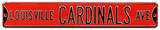 Louisville Cardinals Ave Steel Sign Wall Sign