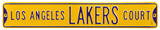 Los Angeles Lakers Ct Steel Sign Wall Sign