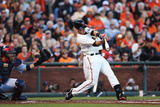 San Francisco, CA - October 14: San Francisco Giants v St. Louis Cardinals - Buster Posey Photographic Print by Ezra Shaw