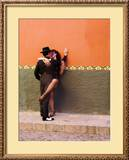 Tango Dancers in Streets of San Miguel De Allende, Mexico Framed Photographic Print by Nancy Rotenberg