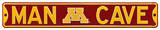Man Cave Minnesota Gophers Steel Sign Wall Sign