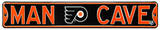 Man Cave Philadelphia Flyers Steel Sign Wall Sign