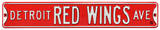Detroit Red Wings Ave Steel Sign Wall Sign