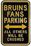 Bruins Crushed Parking Steel Sign Wall Sign