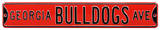Georgia Bulldogs Ave Red Steel Sign Wall Sign
