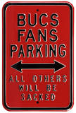 Bucs Sacked Parking Steel Sign Wall Sign