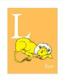 L is for Lion (orange) Kunstdrucke von Theodor (Dr. Seuss) Geisel